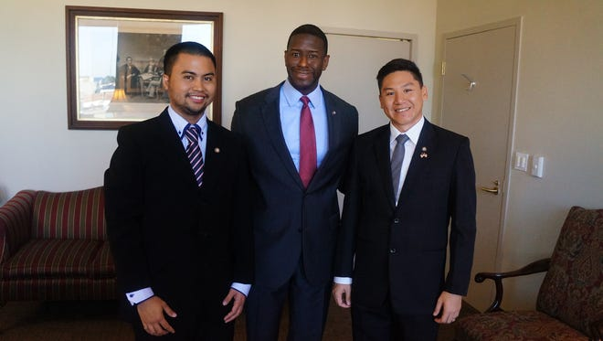 The visiting Fellows met with Mayor Andrew Gillum.