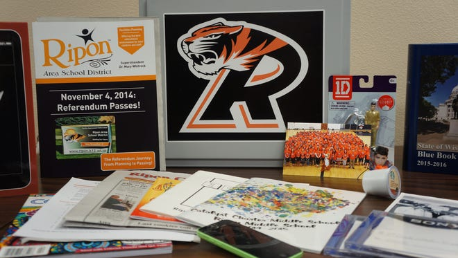 Students and staff in the Ripon School District buried a time capsule on Feb. 5, while the district is undergoing a $32.1 million building project.