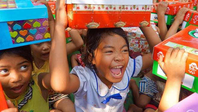 Drop off Operation Christmas Child donations Nov. 14 to Nov. 18, 9 a.m. to noon and 1 to 5 p.m.; Nov. 19, 1 to 3 p.m.; Nov. 20, 1 to 3 p.m.; and Nov. 21, 9 a.m. to noon at First Baptist Church, 270 Country Club Drive.