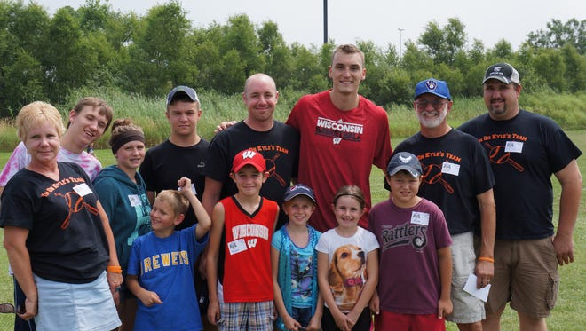 Sam Dekker at last August at the Strike Out Cancer event hosted by the Children's Cancer Family Foundation. The Foundation helps families who have been affected by childhood cancer. Dekker is a basketball player for the Los Angeles Clippers and a Sheboygan native. He has been involved with the organization for the past four years.