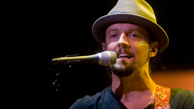Jason Mraz performing at US Airways Center Tuesday, Oct. 2, 2012 in Phoenix.