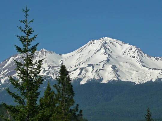 Mt. Shasta is one of eight volcanic areas up and down