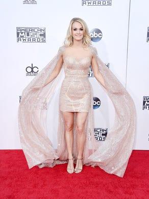 LOS ANGELES, CA - NOVEMBER 22:  Singer Carrie Underwood