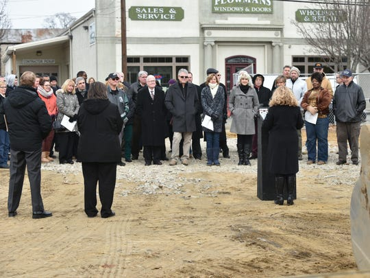 Noon Friday saw a groundbreaking ceremony in Millville for the Cumberland County College Arts & Innovation Center at High and Vine streets.