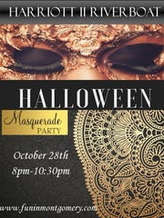 The Harriott II's Halloween Masquerade Party cruise is Saturday.