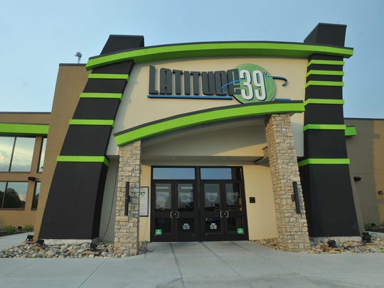 Latitude 360 reopened Wednesday, Dec. 2, 2015, after resolving a tax dispute with Indiana officials. The entrance of the Far-Northside entertainment complex is shown in 2013, when it opened as Latitude 39.