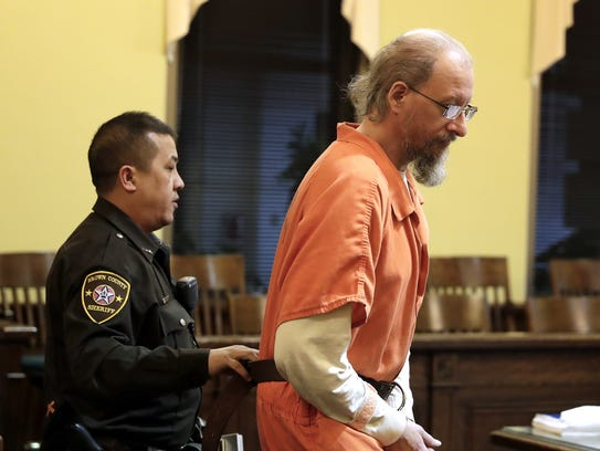Sterling Rachwal is brought into a courtroom Friday