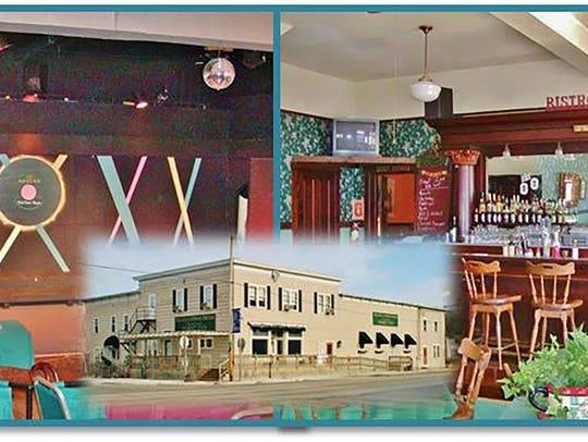 Montage of the Forst Inn in Tisch Mills.