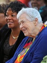 Sister Jane Schilling, right,  October 27, 2014.