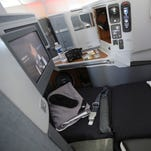 American Airlines earns kudos for the business class seats and in-flight entertainment on its new 777-300ER aircraft.