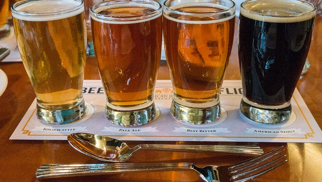 Schoolcraft Brewing's best: a Kolsch style, pale ale, best bitter ale and American stout.