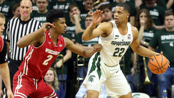 Miles Bridges scored 24 points in MSU's first meeting with Wisconsin, a 76-61 on Jan. 26 in East Lansing. Bridges is expected to play at Wisconsin after his mother's named surfaced in a Yahoo Sports story on an FBI probe into corruption in college basketball.