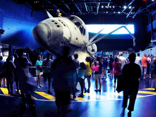 Guests at the Kennedy Space Center Visitor Complex
