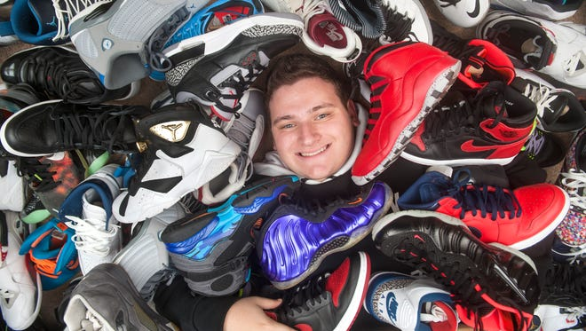 Cherry Hill East junior Justin Liebman, 17, is a sneaker collector who started his own nonprofit called Karing 4 Kicks to help provide sneakers to those who are less fortunate.