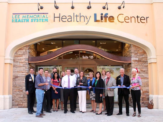 The Bonita Springs Area Chamber of Commerce had a ribbon- cutting for Lee Memorial Health System to celebrate the grand opening of a their Healthy Life Center.