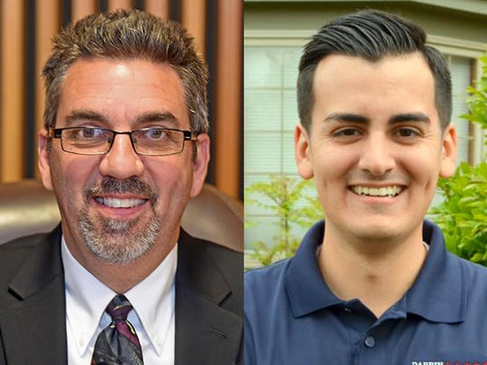 From left, Bob Howey, R-Trenton and Darren Camilleri, D-Brownstown Township are running for the 23rd Michigan House district in the 2016 elections.