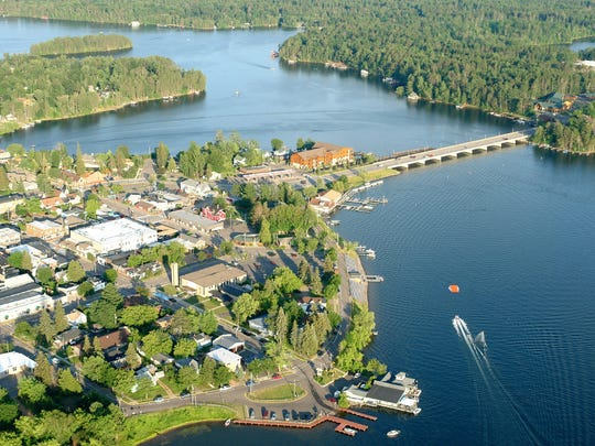The Northwoods town of Minocqua is nearly an island,