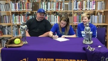 North Henderson senior Teegan Bullock has signed to play softball for Brevard College.