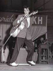Elvis Presley performed at Municipal Auditorium during The Louisiana Hayride music series.