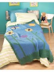 Reversible Color Crochet- Grandpa Kit's Garden beauty shot