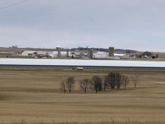 The barn at Kinnard Farms stretches the length of six
