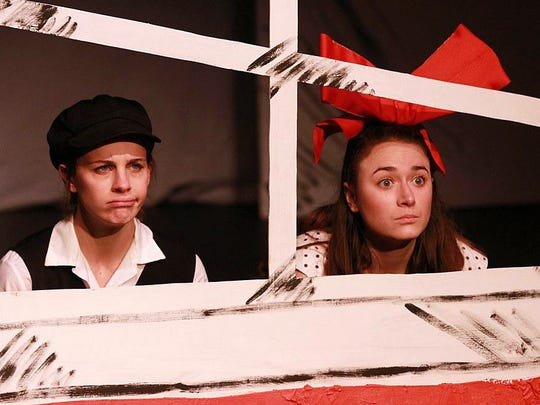 Lacey Connell, left, as The Boy and Emily Rourke as