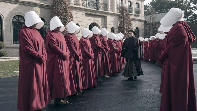 """Scripted programming with strong, smart and poignant female narratives were a welcome TV trend in 2017, including Hulu's """"The Handmaid's Tale."""""""