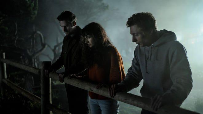 Charlie, Mina, and Josh wonder what's going on down below.