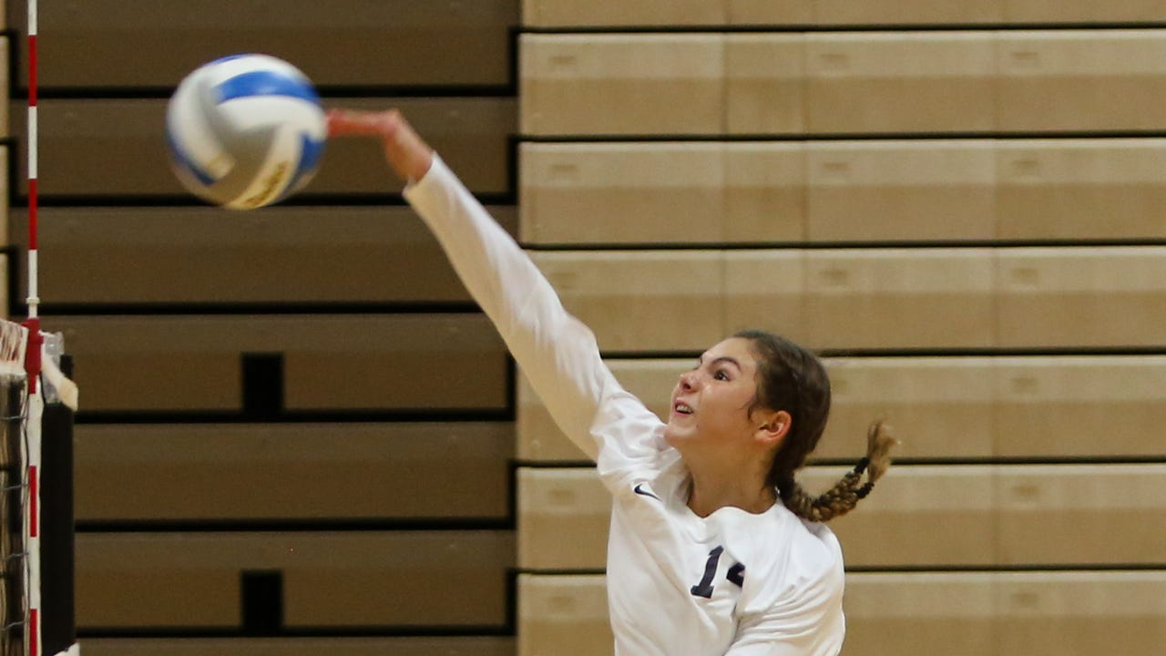 Highlights and interviews from Brighton's 3-1 volleyball victory over Hartland.