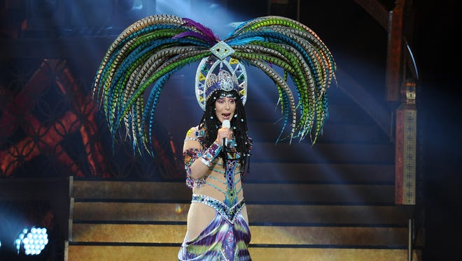 Cher performs during the D2K Tour 2014 at the BB&T Center in Sunrise, Fla., in May 2014.