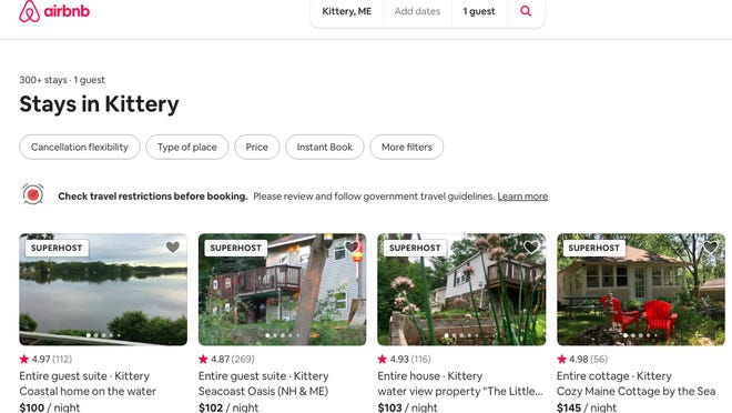 """With more than 300 stays advertised in or around Kittery on Airbnb, for example, town officials have long sought a way to regulate """"problem properties"""" resulting in neighborhood disturbances."""
