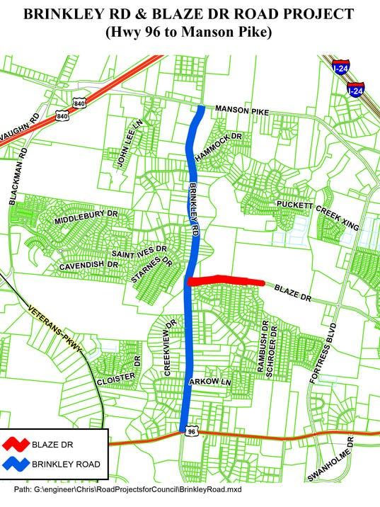 Brinkley Road map
