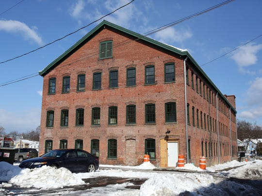The Poughkeepsie Underwear Factory, which is being redeveloped as a mixed use building by Hudson River Housing, Feb. 13, 2017.