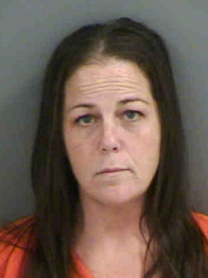 Marjorie McIntire, 45, was arrested and charged with shoplifting.