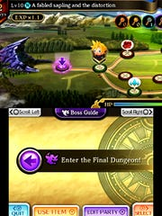 """In quest mode, you create a party of characters to take on a journey through the world of """"Theatrhythm Final Fantasy: Curtain Call."""" Clearing maps opens up more areas."""