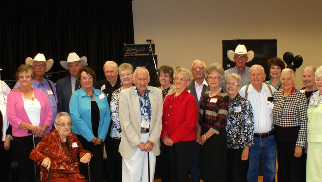 Past president of the Luna County Old-Timers Association gathered for this group photo in 2015.