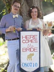 Howard Martin, 34, and Deirdre Costello, 32, on their