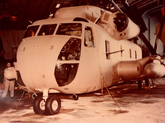 """MH-53 Sea Stallions were used in the 1979 mission to rescue hostages in Iran led by Gen. Charles """"Chuck"""" Pitman, US Marine Coprs retired."""