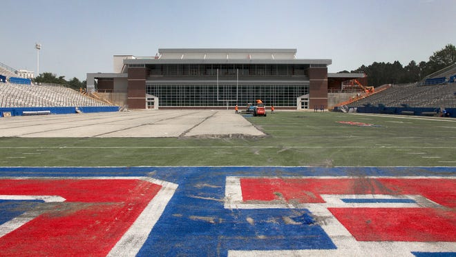 Louisiana Tech is getting a new turf field to go along with its new south end zone project, which is set to debut in September.