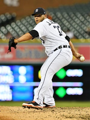 Tigers reliever Joe Jimenez has allowed no earned runs and struck out 14 over his last nine appearances.