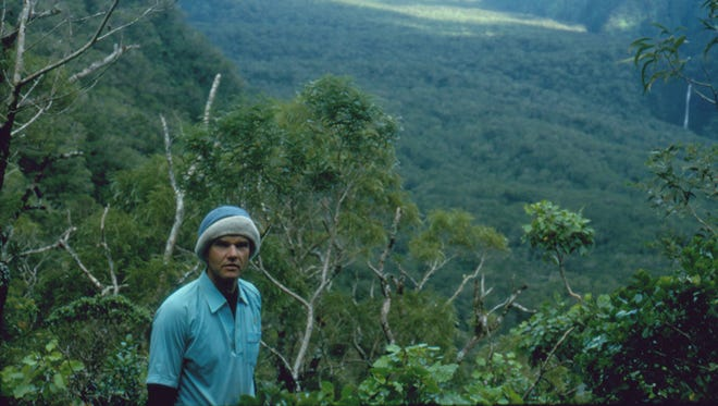 Cornell University entomology professor  James Liebherr during his first trip to Kipahulu Valley in 1991. He and a conservation biologist were the first to sample rare beetles along all elevations of the valley.