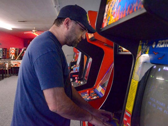 Battle Creek resident Jon Klinkel is one of the pro-level competitors participating in Meow Wolf's Galaga World Championship in New Mexico.