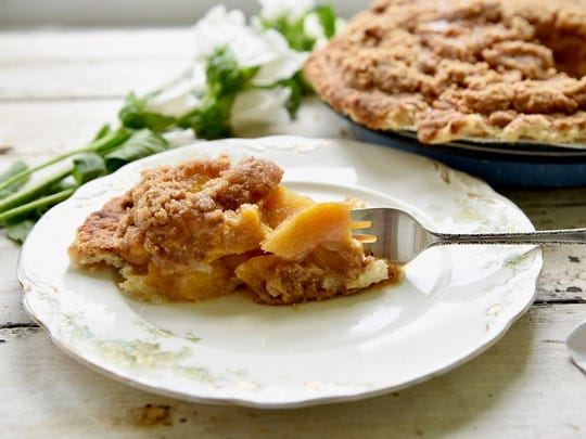 Buttermilk Sky Pie's peach pie is one of the shop's