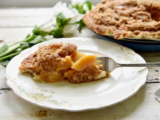 Buttermilk Sky Pie's peach pie is one of the shop's seasonal summer flavors.