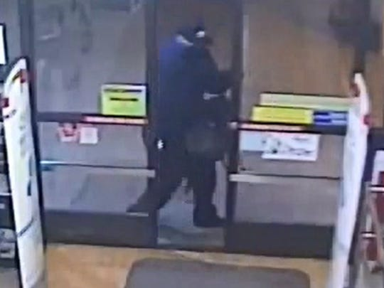 Authorities were asking for the public's help in identifying a person suspected of robbing a drugstore in Camarillo.