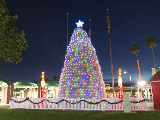 The Tumbleweed Tree, made of 600 to 800 tumbleweeds painted white, dusted with glitter and wrapped with lights, fills downtown Chandler with a festive atmosphere each season.