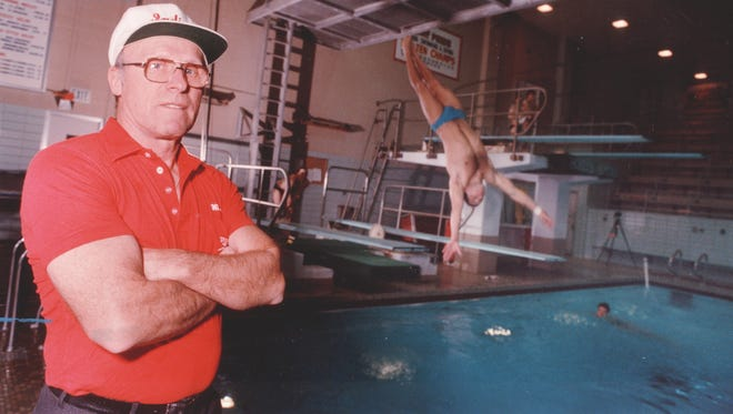 Indiana University diving coach Hobie Billingsley, shown here in 1989.