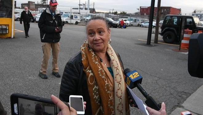 Evelyn Arroyo-Maultsby, the juror dismissed from the federal corruption trial for Sen. Bob Menendez, speaks to NorthJersey.com outside of the federal courthouse on Thursday, November 9, 2017 in Newark, NJ.