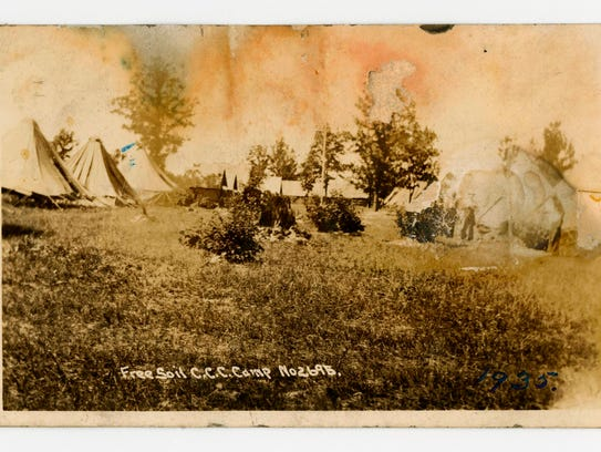 In a photo provided by the Bentley Historical Library,