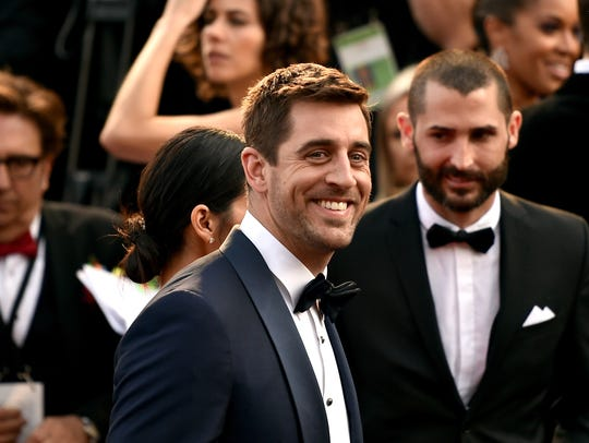 Aaron Rodgers at the 88th Annual Academy Awards at